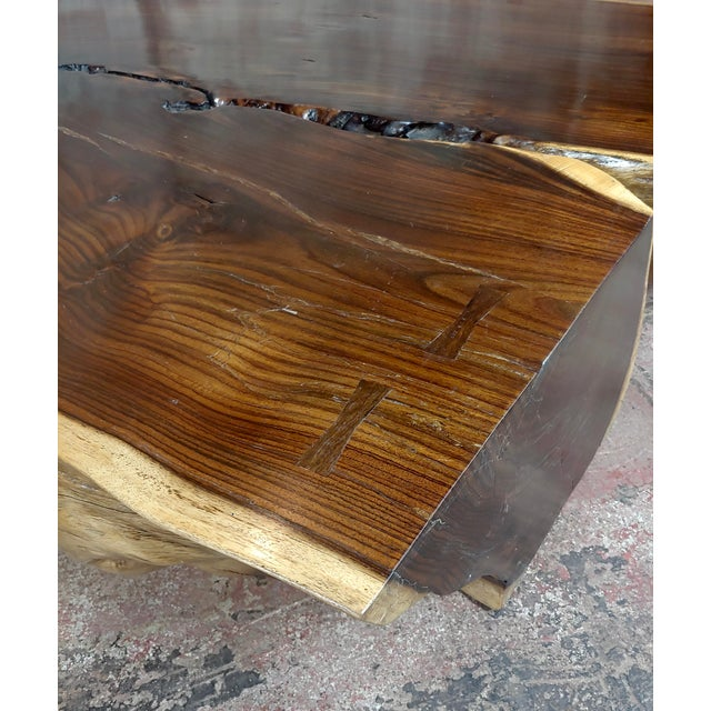 """African Leadwood Slab """"Monumental"""" Coffee Table For Sale - Image 12 of 13"""