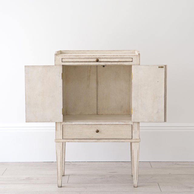 Pair of Lotta Gustavian Style Nightstands For Sale - Image 10 of 13