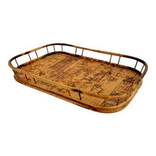 1960s Tortoiseshell Bamboo Tray For Sale