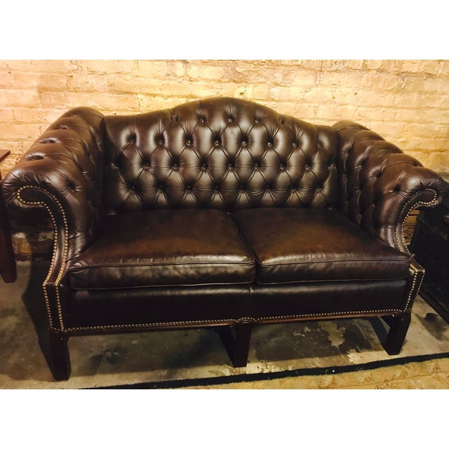 Chesterfield Leather Loveseat - Image 2 of 4