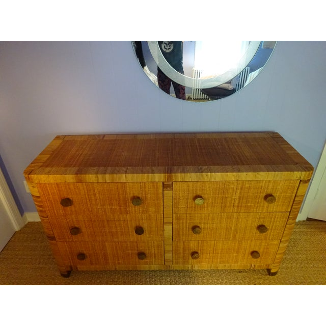 Mid-Century Modern Vintage Bielecky Brothers Cane Double Chest For Sale - Image 3 of 6