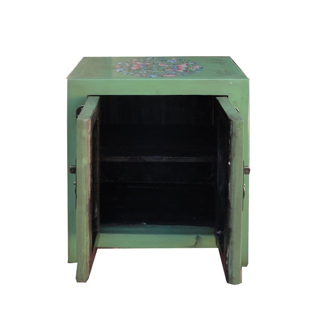 Petite Pastel Green Butterfly Top Nightstand - Image 5 of 7