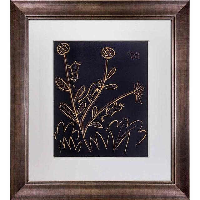 """Pablo Picasso 1960s Vintage Pablo Picasso """"Plante Aux Toritos"""" Linocut Print For Sale - Image 4 of 4"""