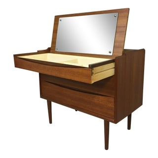 Danish Modern Teak Vanity by Arne Vodder For Sale