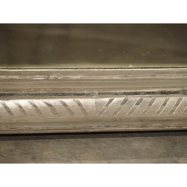 Silver Antique French Louis Philippe Silverleaf Mirror For Sale - Image 8 of 9