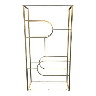 Design Institute of America Brass Etagere For Sale