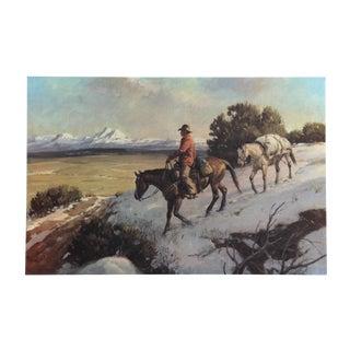 Duane Bryers, Riding Chuck Line, Lithograph For Sale