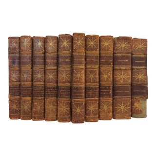 Early 19th Century Antique Decorative and Illustrated Leather Bound Volumes, the Plays of William Shakespeare - 10 Book Set For Sale