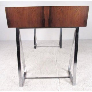 Danish Modern Rosewood and Chrome Campaign Desk Preview