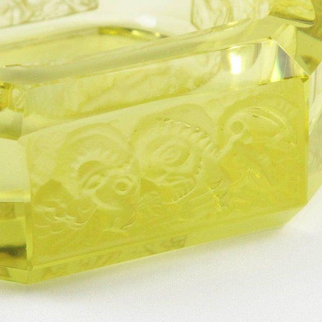 Bohemian Art Deco Vaseline Czech Glass Ashtray & Box - Image 7 of 11