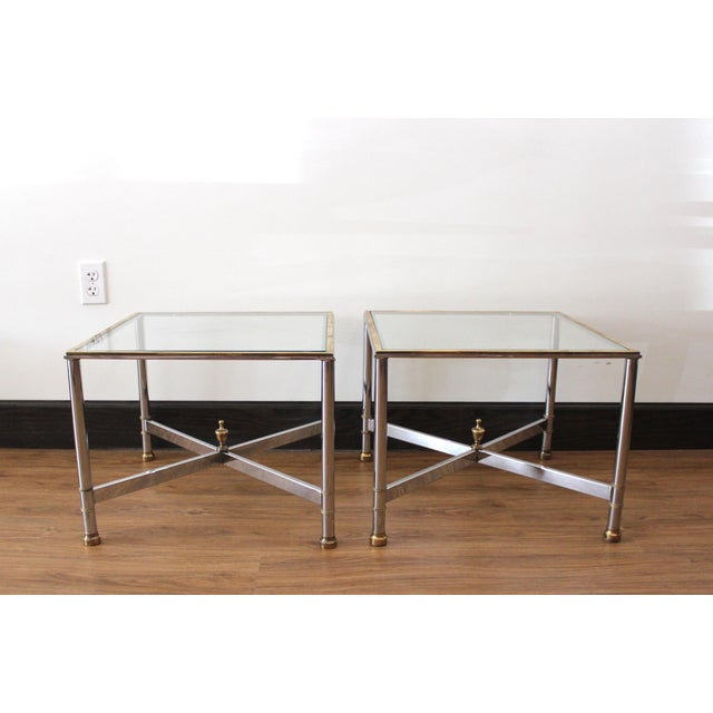 A pair of charming and diminutive vintage French side tables, they look stunning when paired together as a cocktail table....