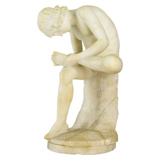 19th Century French Alabaster Sculpture For Sale