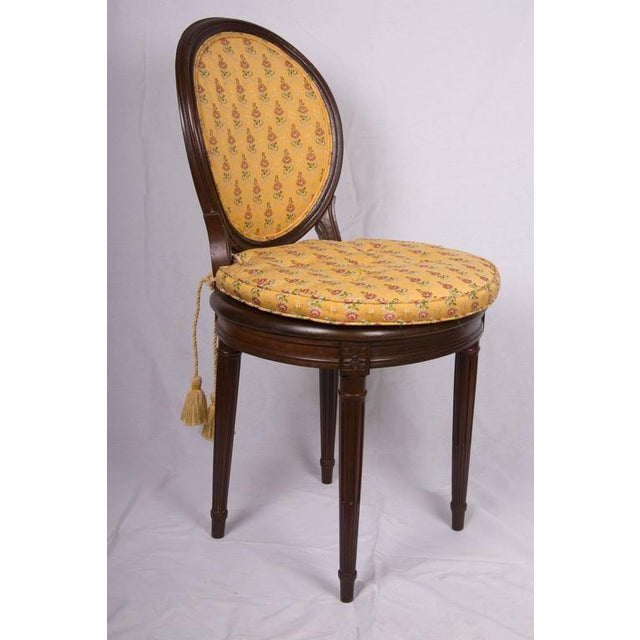 19th Century Walnut Caned Musician's Chairs For Sale In West Palm - Image 6 of 7