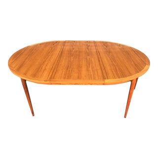 1960s Vintage Heltborg Mobler Danish Expanding Dining Table For Sale