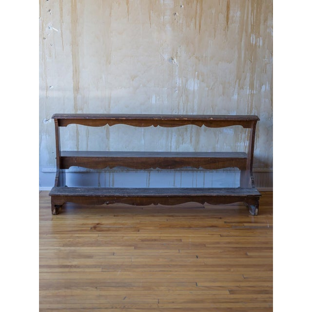 Italian Antique Church Pew For Sale - Image 10 of 12