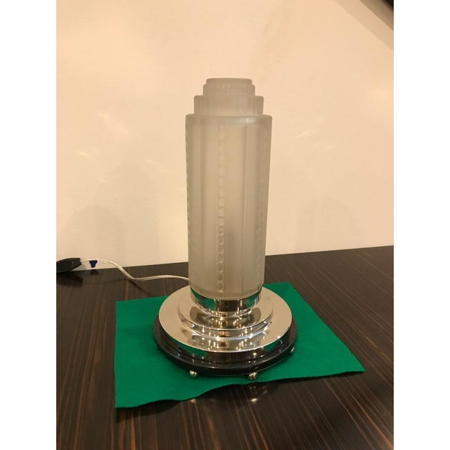 Art Deco French Art Deco Table Lamps by Genet Et Michon With Marble Base - a Pair For Sale - Image 3 of 10