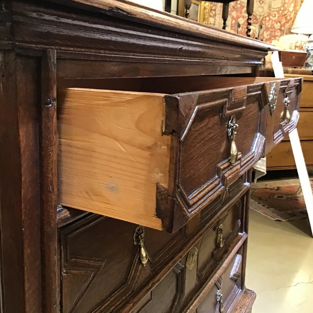 Early 18th Century 18th Century English Wooden Chest For Sale - Image 5 of 7