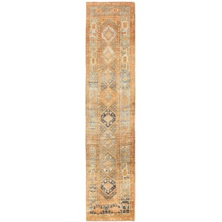 Antique Persian Serapi Runner Rug - 3′ × 12′10″ For Sale