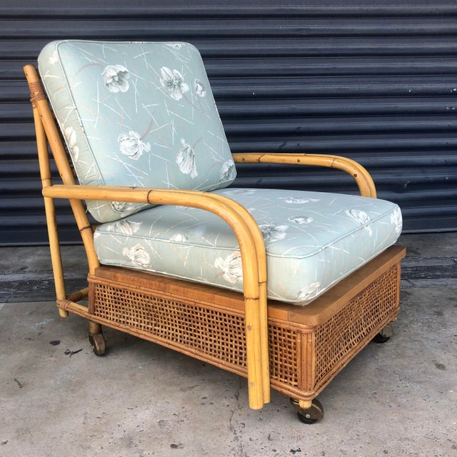 Mid Century Ficks Reed Rattan Lounge Chair For Sale - Image 12 of 12