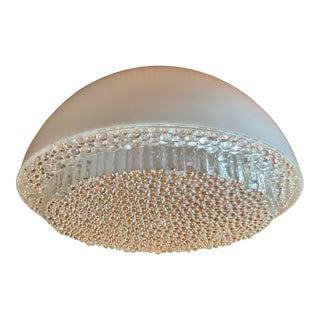 Mid Century Modern Opaque Resin Dome Pendant With Textured Light Diffuser For Sale