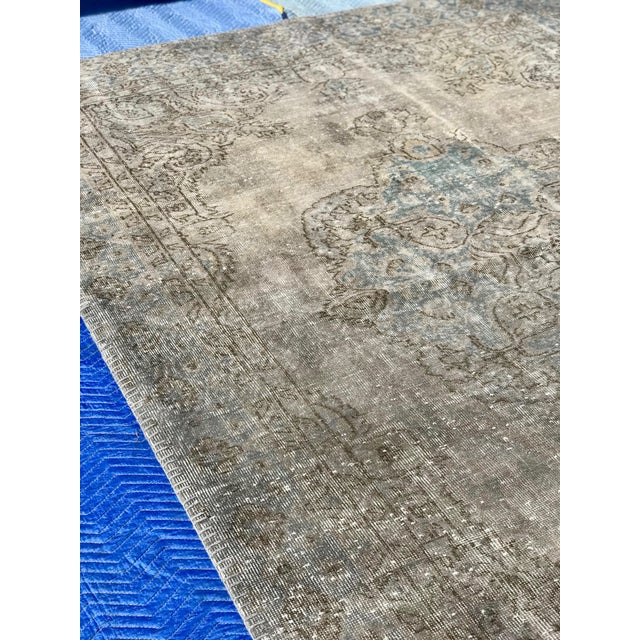 1920s Antique Turkish Distressed Rug- 6′1″ × 10′6″ For Sale - Image 4 of 12