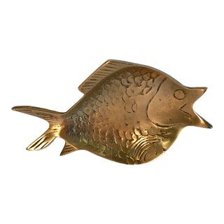 Vintage Brass Fish Dish For Sale