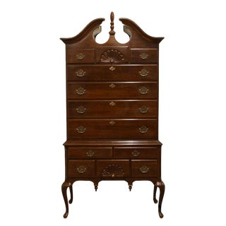 "Jamestown Sterling Chippendale Style Solid Cherry 41"" Highboy For Sale"