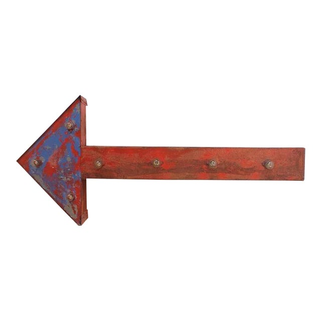 1950's Vintage Double-Sided Light Up Arrow Sign For Sale
