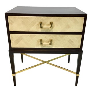 Maitland-Smith Walnut Two Drawers Side Table For Sale