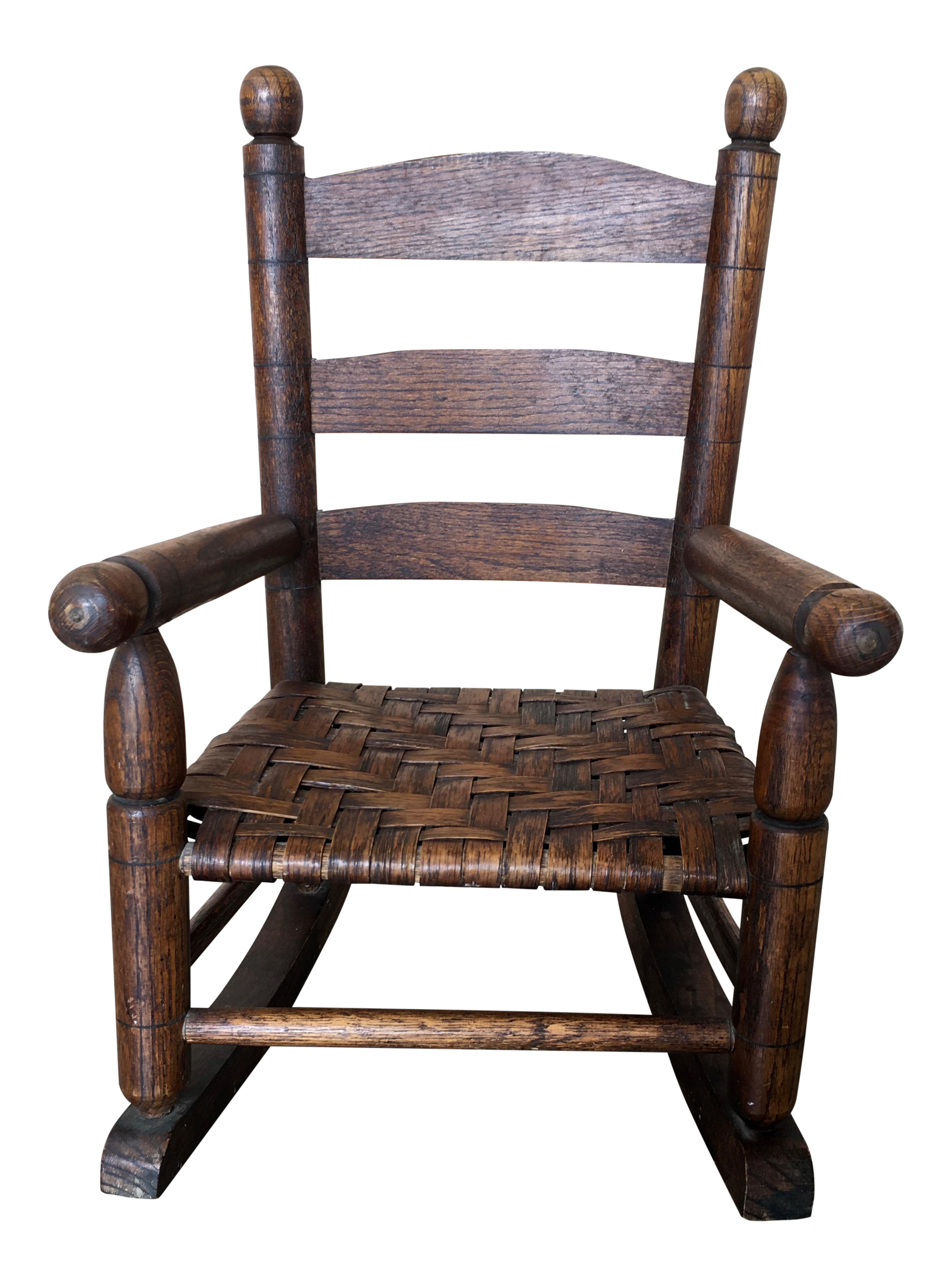 Basket Weave Country Childu0027s Rocking Chair