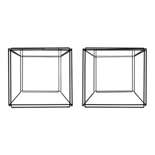 Pair of Minimalist Tables by Max Sauze For Sale