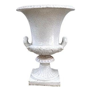 Vintage Italian Terra Cotta Campagne Urn For Sale