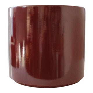 Vintage Gainey Ceramics Ac-12 Planter Burgundy Mid Century Modern Architectural For Sale
