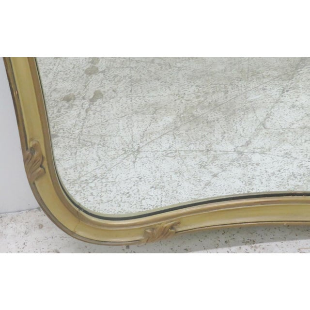French Provincial Style Paint Decorated Mirror - Image 5 of 6