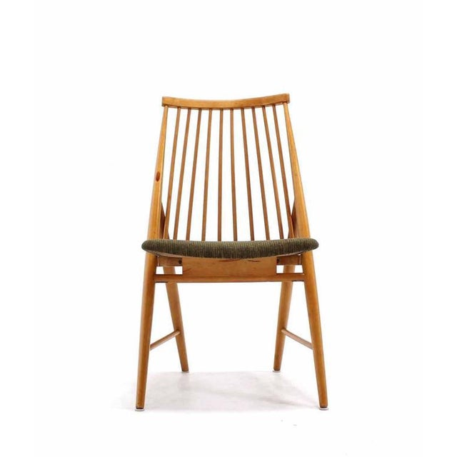 Brown Pair of Swedish Spindle Dowel Back Chairs For Sale - Image 8 of 10