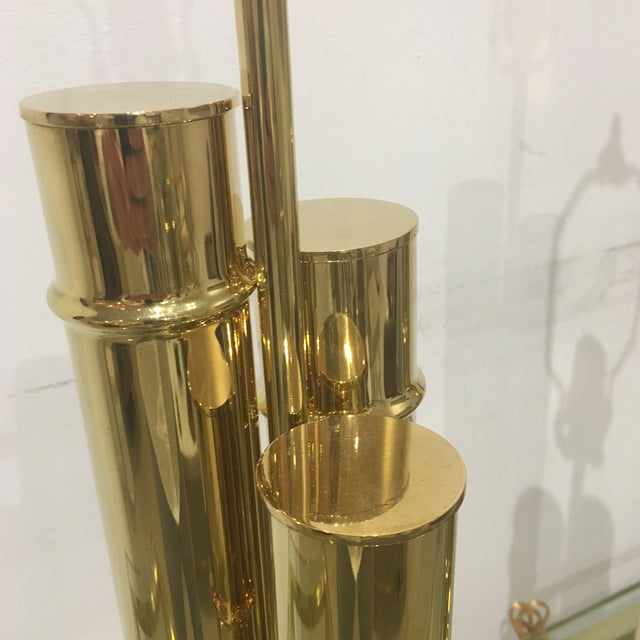 Mid-Century Modern 1960s Italian Brass Faux Bamboo Lamps - a Pair For Sale - Image 3 of 11