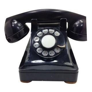 Black WE Model 302 Telephone 1937 Metal Base