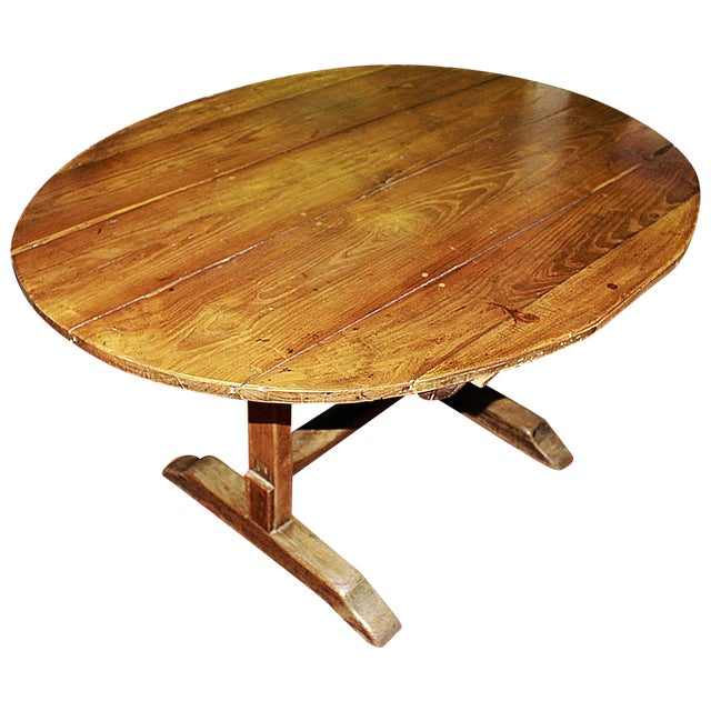 Antique French Wine Tasting Table - Image 1 of 8