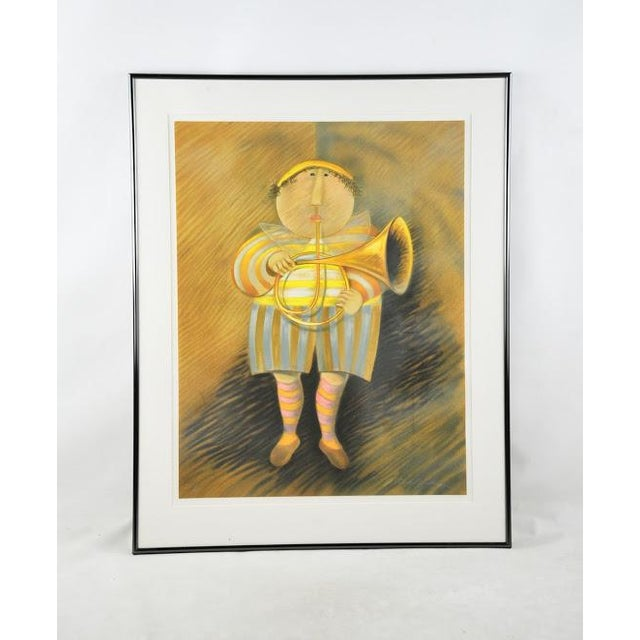 """Signed & Numbered Lithograph """"French Horn Player"""" by Graciela Rodo Boulanger - Image 2 of 9"""