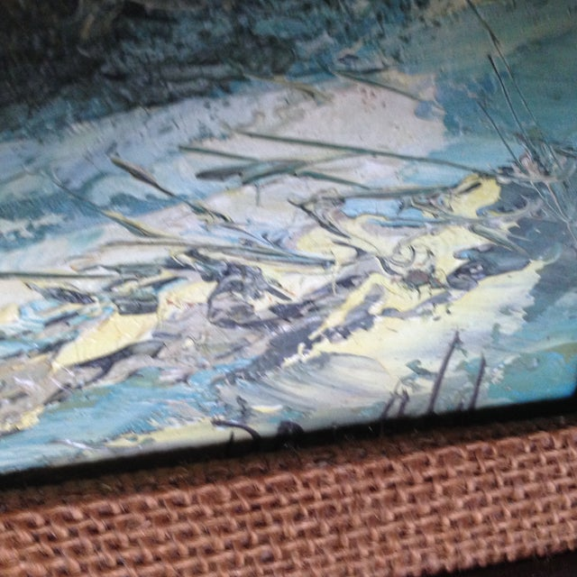 Vintage Oil on Board Seascape Painting - Image 7 of 11