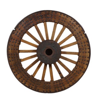 Antique Chinese Huge Country Wagon Wheel For Sale