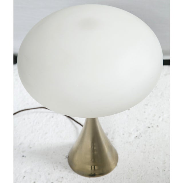 Bill Curry for Laurel Brass Mushroom Lamp For Sale - Image 5 of 5