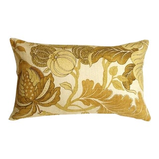 Pillow Decor Harvest Floral Yellow 12x20 Pillow For Sale