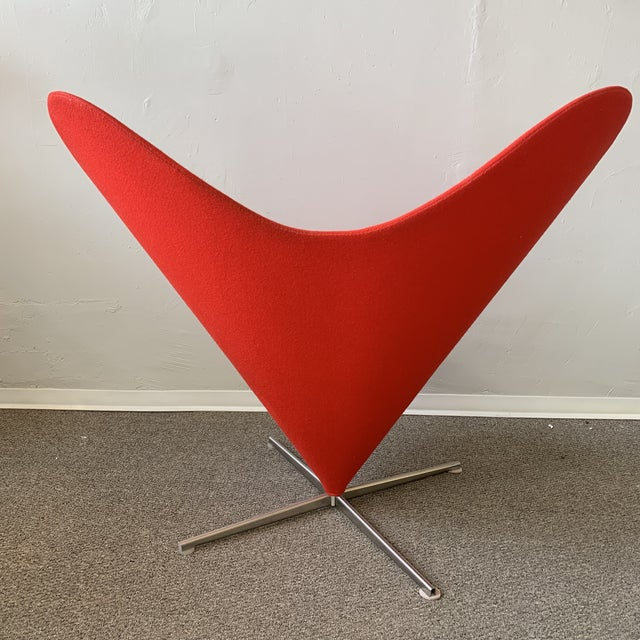 Verner Panton 1960s Vintage Verner Panton Heart Chair For Sale - Image 4 of 7