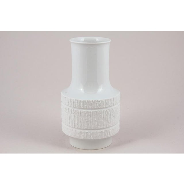 Circa 1960's Thomas of Germany White Porcelain Vase - Image 3 of 3
