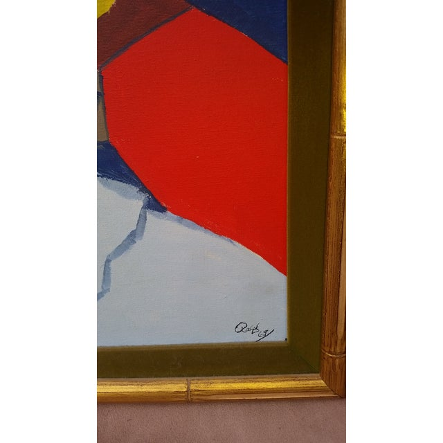 Vintage Abstract Painting From the 1960s - Image 5 of 8