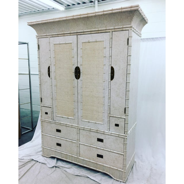 Faux Bamboo Dresser Cabinet by Ficks Reed - Image 8 of 11