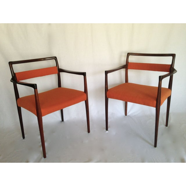 Mid-Century Rosewood Dining Chairs - Set of 8 - Image 3 of 10