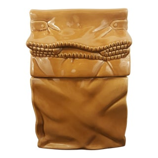 Vintage Brown Bag Cookie Jar For Sale