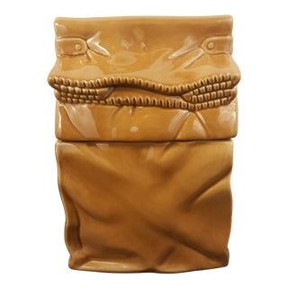 Vintage Brown Bag Cookie Jar